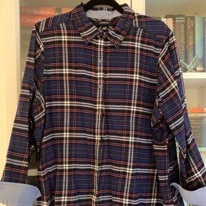 Lands' End Tartan Flannel Shirt